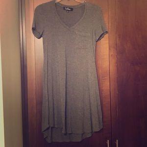 Lulus dark gray tee shirt dress with front pocket